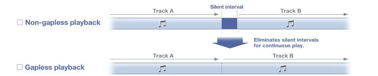 Gapless Playback trên yamaha rx-a3040