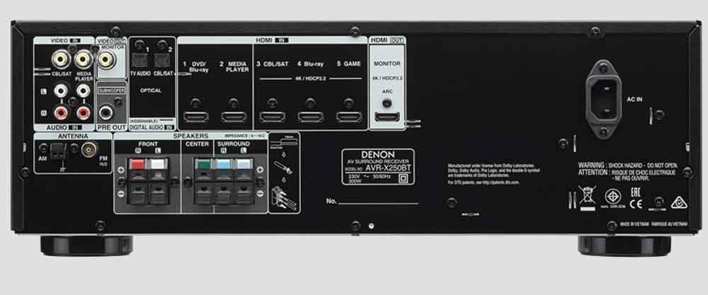 Amply Denon AVR x250 BT