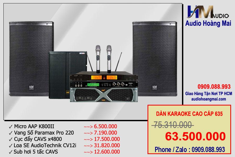 Dàn karaoke cao cấp 635