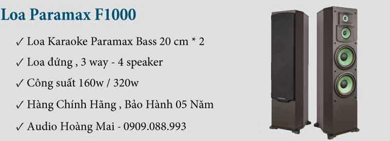 Dàn Karaoke Paramax 999c