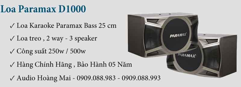 Loa Paramax D1000 New