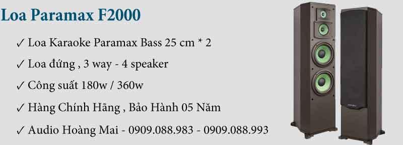 Loa Paramax F2000 New