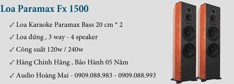 Loa Paramax FX 1500