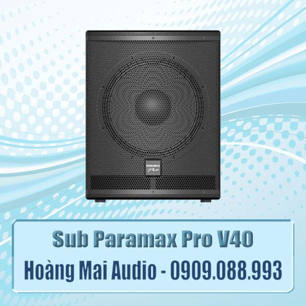 Sub Paramax Pro V40