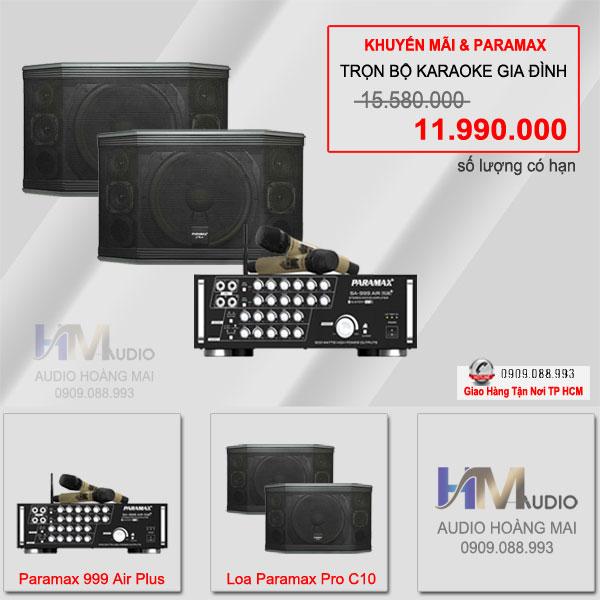 Tổng Hợp SP Paramax Pro : Loa, Vang số, Cục Đẩy, Sub