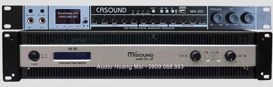 Vang cơ CA Sound MN200 + Cục Đẩy Misound 500