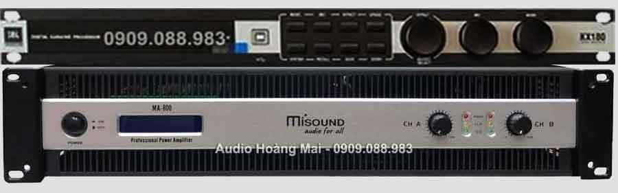 Vang số JBL KX180 + Cục đẩy Misound MA 800